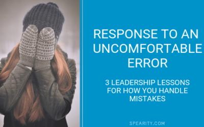 Uncomfortable Error Part 2 (The Response)